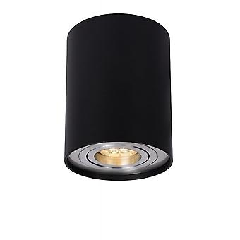 Lucide Tube Modern Cylinder Aluminum Black Ceiling Spot Light