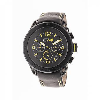 E2.2 - Carbon 14 - Quartz Chronograph - Black Calf Leather