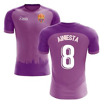 2018-2019 Barcelona Third Concept Football Shirt (A.Iniesta 8) - Kids