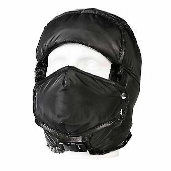 sUw - Winter Trapper Mütze schwarz regelmäßige