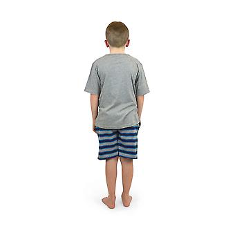 Ponožky V ponožkách bavlna V-krk pruhy krátké pyžamo