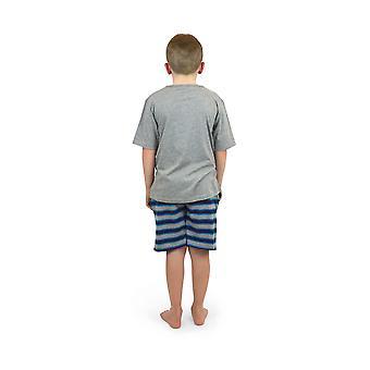 Socks Uwear Boys Cotton V-Neck Stripe Short Pyjamas