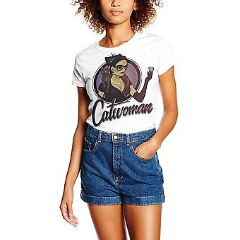 Damen-DC-Comic-Bombellen-Catwoman Badge T-Shirt
