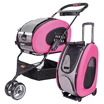 Ibiyaya 5-in-1 Multifunktions Combo EVA Pet Carrier/Stroller - Rosa