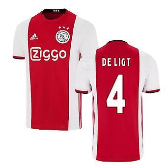 2019-2020 Ajax Adidas Home Football Shirt (DE LIGT 4)