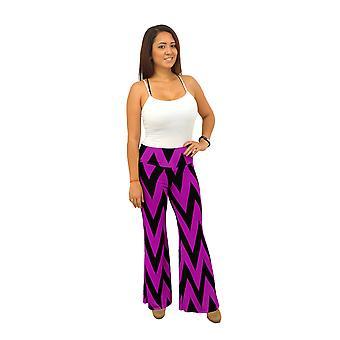 DBG kvinders polyester Chevron Palazzo print bukser