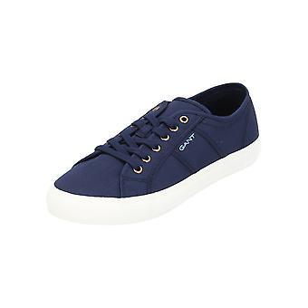 GANT Zoe kvinnors fritid sneaker turn skor mörkblå guld nya OVP SALE
