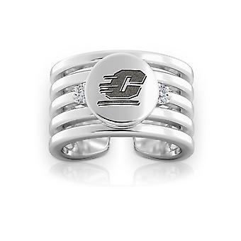 Central Michigan University Diamond Ring i Sterling Silver design av BIXLER