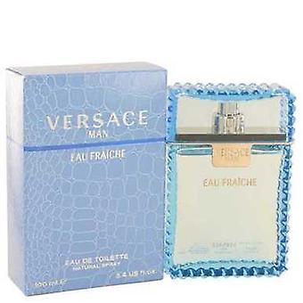 Versace man av Versace Eau fraiche Eau de Toilette Spray (blå) 3,4 oz (män) V728-439640