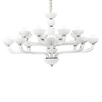 Ideal Lux Casanova 1 Bulb Pendant Light6 White