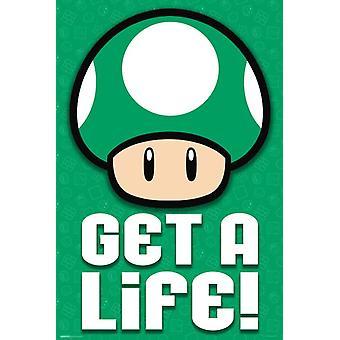 Poster - Studio B - Mario Bros - Get a Life 36x24