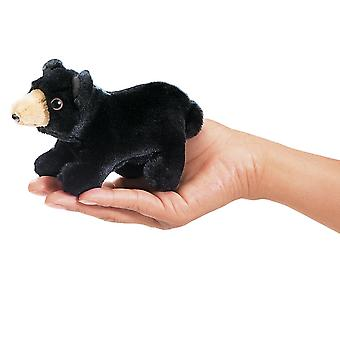 Finger Puppet - Folkmanis - Mini Bear Black New Animals Doll Plush Toys 2641