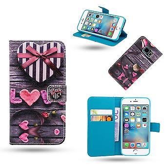 IPhone 6/6s Case/lederen portemonnee-liefde