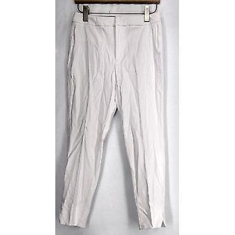 Kelly by Clinton Kelly Crop Pants w/ Button Detail White A278474