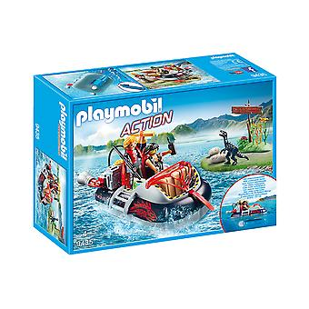 Playmobil 9435 Action Dino Hovercraft With Underwater Motor Playset