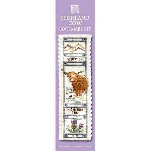 Textile Heritage Counted Cross Stitch Bookmark - Highland Cow Bookmark