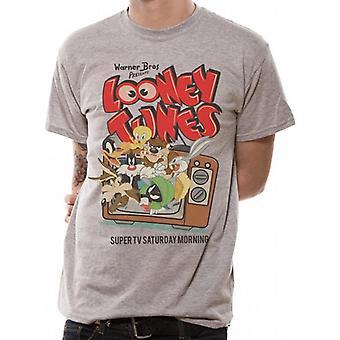 Looney Tunes Unisex Retro TV Design T-Shirt