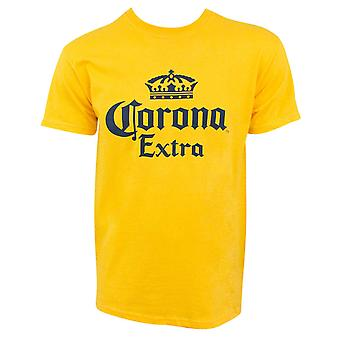 Corona Extra Logo Yellow Men's T-Shirt