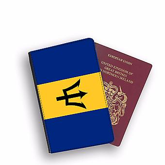 BARBADOS Flag Passport Holder Style Case Cover Protective Wallet Flags design