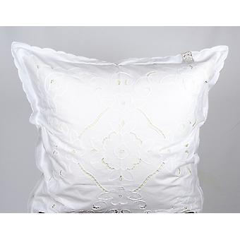 Hossner Cushion Cover Parade Cushion Arabba Richelieu Embroidery Shabby Look 80x80 cm