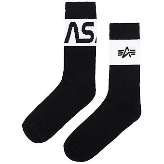 Alpha Industries Unisex Socks NASA Typo Three Pack