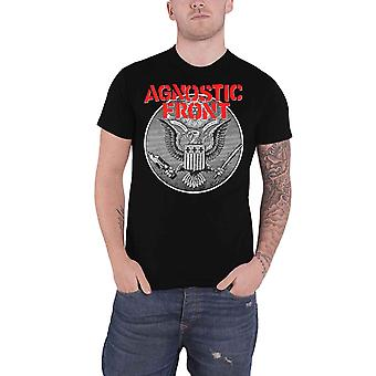 Agnostic Front T Shirt Against All Eagle Band Logo new Official Mens Black