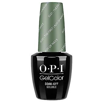 OPI GelColor Gel Color - Soak Off Gel Polish - Suzi The First Lady Of Nails 15ml (GC W55)