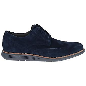 Rockport Mens Total Motion Sportdress Wingtip Suede Leather Shoe