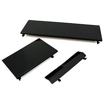 3 in 1 replacement door cover flap set for nintendo wii console repair parts - black