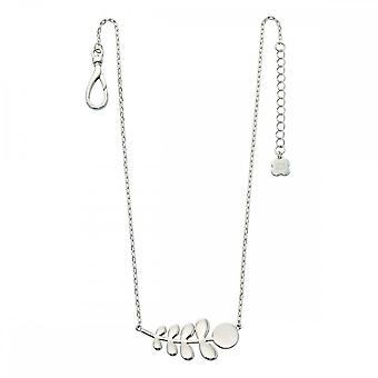 Orla Kiely Silver Plated Leaf Necklace N4015