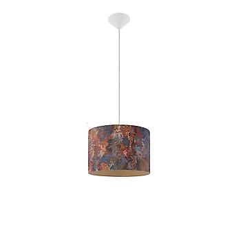 Sollux 1 Light Cylindrical Ceiling Pendant Multi-Color SL.0548