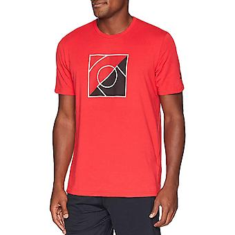 Under Armour Mens Top Of The Key SS Casual Graphic Crew T-Shirt Tee Top - Red