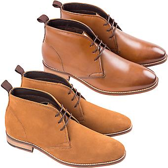 Ikon Mens Bosworth Formal Smart Casual Lace Up Ankle Boots Shoes