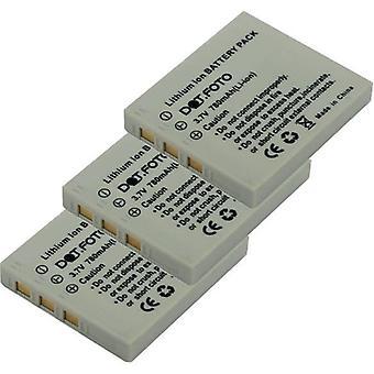 3 x Dot.Foto Praktica NP-40 Replacement Battery - 3.7v / 780mAh