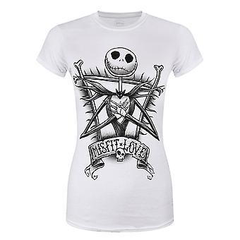Nightmare Before Christmas Womens/Ladies Misfit Love T-Shirt