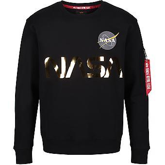 Alpha Industries NASA reflecterende Sweatshirt zwart 24