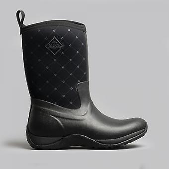 Muck Boots Arctic Weekend Print Ladies Wellington Boots Black