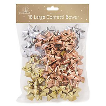 Festive Wonderland Arctic Luxe Bows Confetti (Pack of 18)