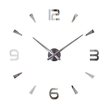 DIY seinä kello-hopea