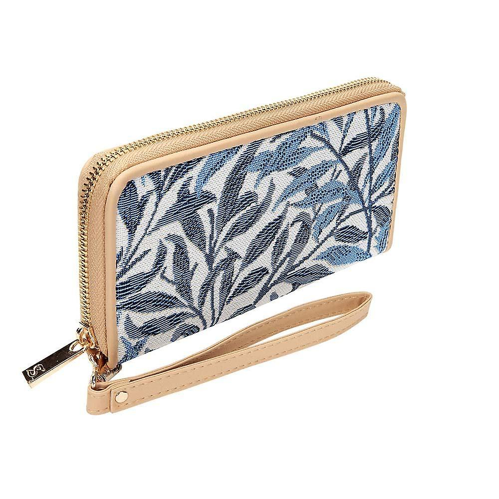 William morris - willow bough long zip money purse by signare tapestry / lzip-wiow