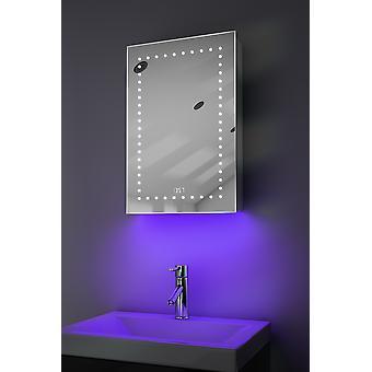 Uhr Gehäuse mit LED unter Beleuchtung, Demister, Sensor & Rasierer k383w