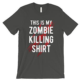 Zombie Killing Mens Cool Grey Silly Outstanding T-Shirt Friend Gift