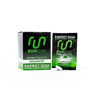 Run Gum Extra Strength Spearmint Energy Gum