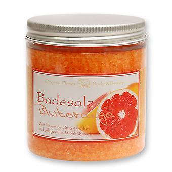Florex banho sais Banho aditivo sangue laranja para um banho de bem-estar frutado-fresco e nutritivo 300 g