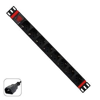 """Schuko 19 """"8 tapa Multi-Socket adapteri on/off-kytkin WP WPN-PDU-C01-08"""