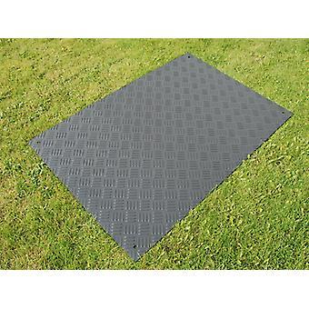 Partyboden und Bodenschutzmatte, 0,96 m², 80x120x0,6cm, schwarz, 1 St.