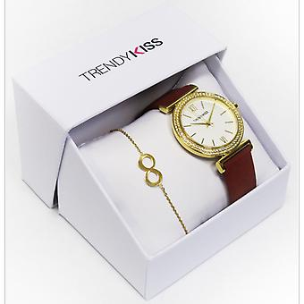 Trendy Kiss CTK-27 box - shows Rose-TG10098-01R and Dor steel woman Bracelet