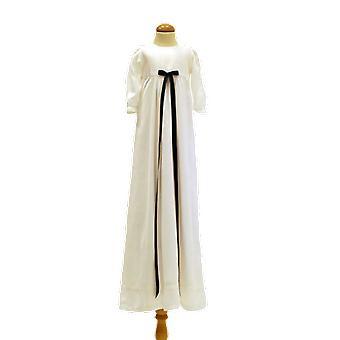 Dopklänning Med Mörkblå Smal Rosett, Grace Of Sweden Pr.la
