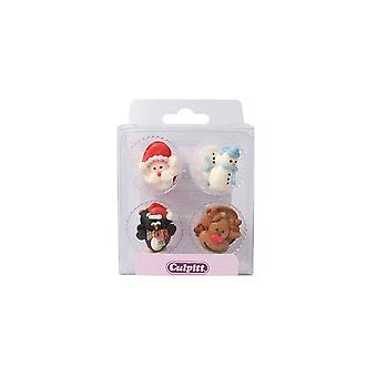 Culpitt Christmas Friends Sugar Pipings - Einzelhandel verpackt - Single