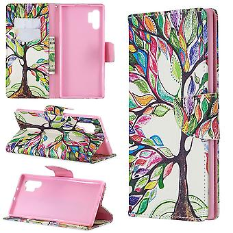For Samsung Galaxy Note 10+ Plus Case Tree of Life PU Leather Wallet Cover